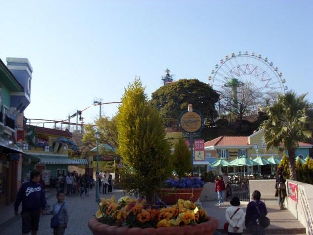 Колесо обозрения  в японском саду «Хамамацу»