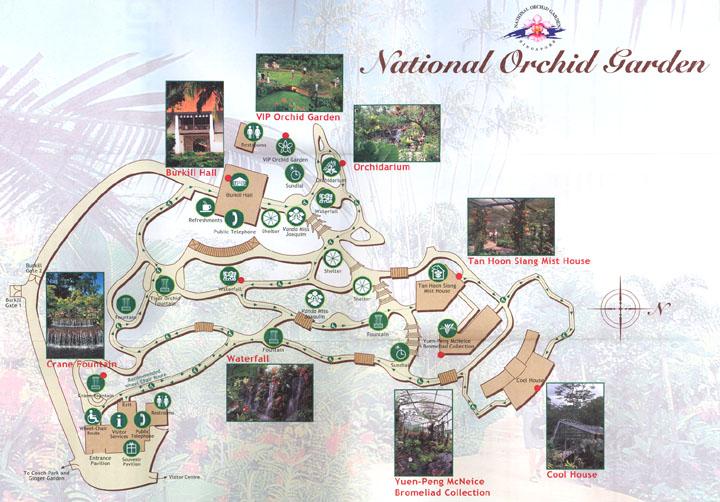 Схема Ботанического сада в Сингапуре