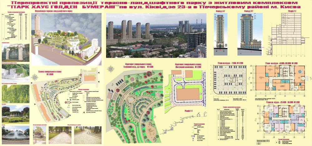 Предпроектные предложения террасно-ландшафтного парка с жилым комплексом