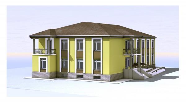 Эскизный проект дома для престарелых