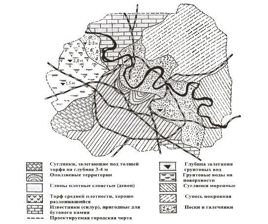 Литологическая карта