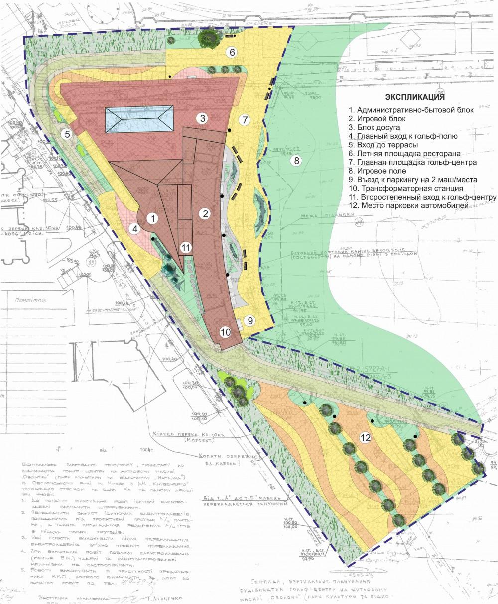 Концепция озеленения и благоустройства территории гольф-центра