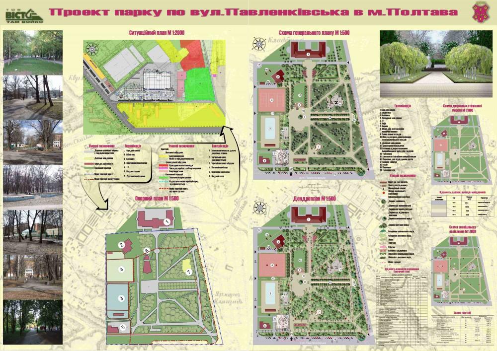 Проект парка в г. Полтава