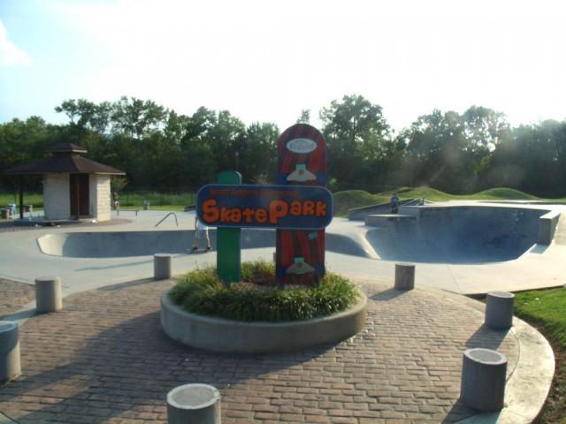 Фрагмент мемориального скейт-парка