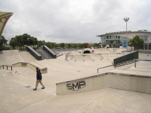 Фрагмент комбинированого скейт-парка